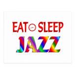 Coma el jazz del sueño tarjeta postal