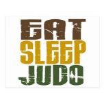 Coma el judo 1 del sueño tarjeta postal