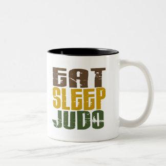 Coma el judo 1 del sueño taza de café de dos colores
