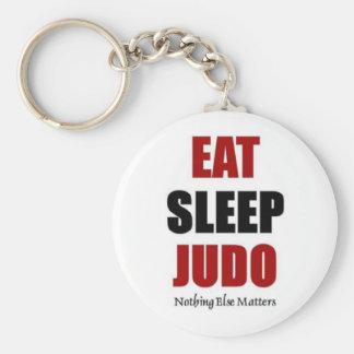 Coma el judo del sueño llavero redondo tipo pin