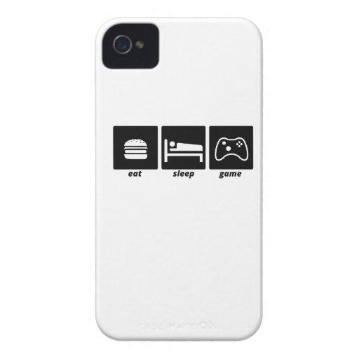 Coma el juego del sueño iPhone 4 Case-Mate protectores