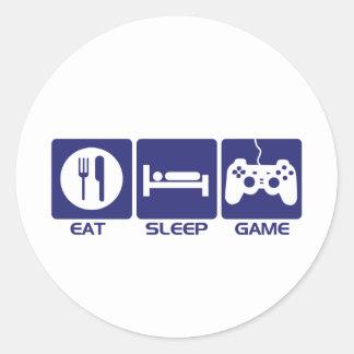 Coma el juego del sueño pegatina redonda