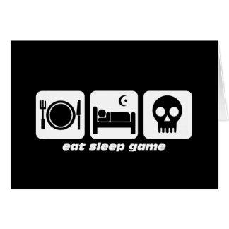 Coma el juego del sueño tarjeta de felicitación