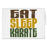 Coma el karate 1 del sueño felicitación