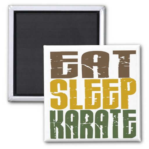 Coma el karate 1 del sueño imán de frigorifico