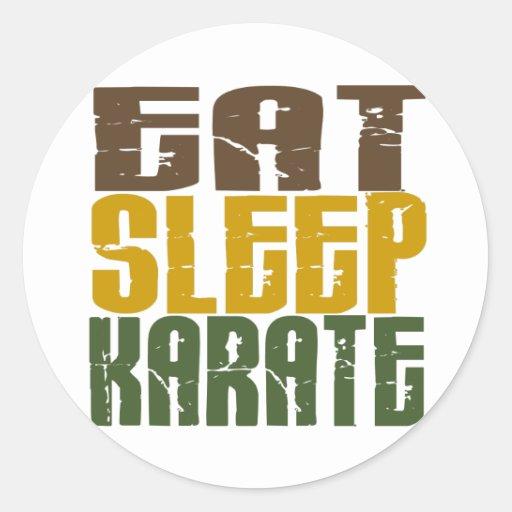 Coma el karate 1 del sueño pegatina redonda