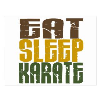 Coma el karate 1 del sueño tarjeta postal