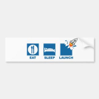 Coma el lanzamiento del sueño etiqueta de parachoque