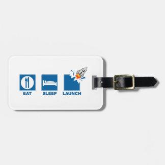 Coma el lanzamiento del sueño etiquetas para maletas