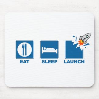 Coma el lanzamiento del sueño tapete de raton