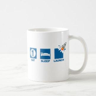Coma el lanzamiento del sueño taza