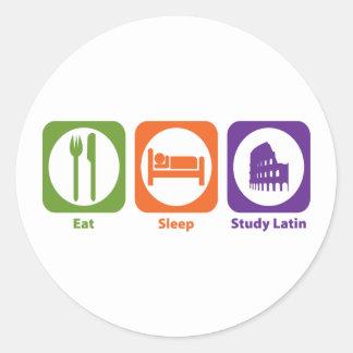 Coma el latín del estudio del sueño pegatina redonda