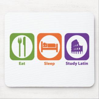 Coma el latín del estudio del sueño tapete de ratones