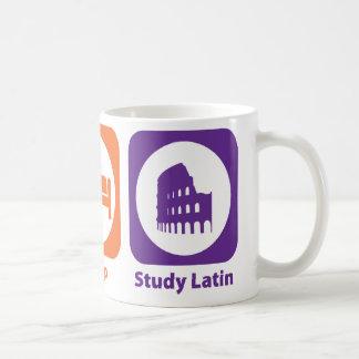 Coma el latín del estudio del sueño taza