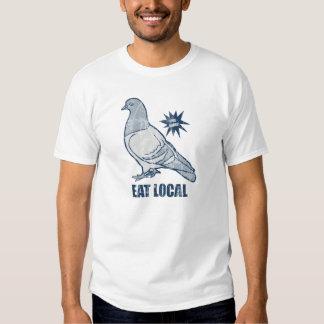 Coma el Local, camiseta de la paloma Camisas