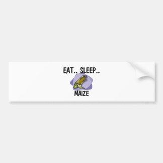 Coma el MAÍZ del sueño Etiqueta De Parachoque