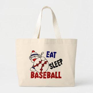 Coma el mono del calcetín del béisbol del sueño bolsas de mano