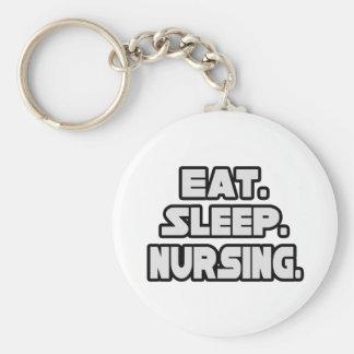 Coma el oficio de enfermera del sueño llavero redondo tipo pin