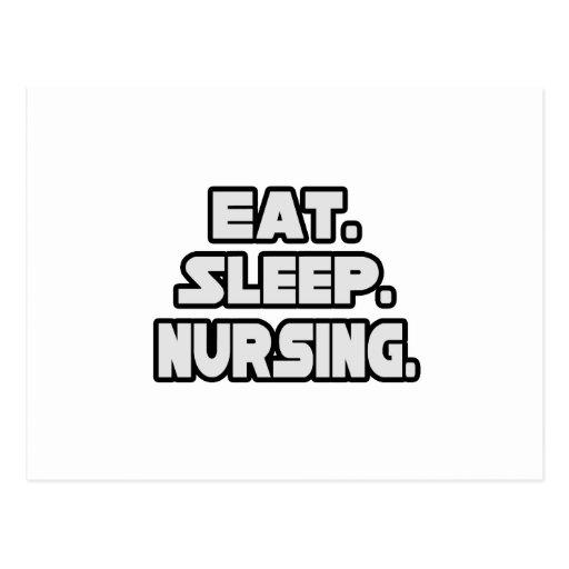 Coma el oficio de enfermera del sueño postales