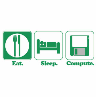 coma el ordenador del sueño (el verde) adorno fotoescultura