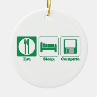 coma el ordenador del sueño (el verde) ornatos
