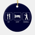 Coma el ornamento del béisbol del sueño adorno de navidad