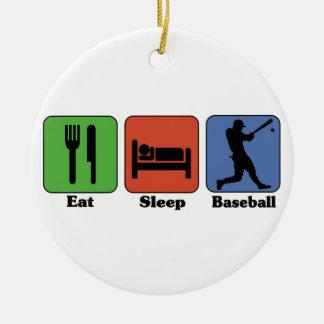 Coma el ornamento del béisbol del sueño ornamento para reyes magos