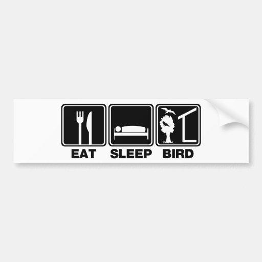 Coma el pájaro del sueño (las persianas) etiqueta de parachoque