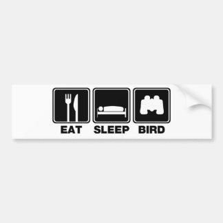 Coma el pájaro del sueño (los compartimientos) pegatina para auto