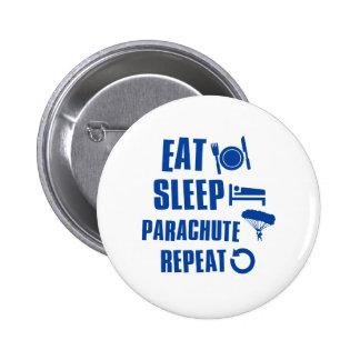 Coma el paracaídas del sueño pin redondo 5 cm