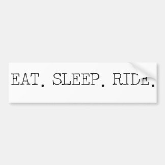Coma el paseo del sueño etiqueta de parachoque