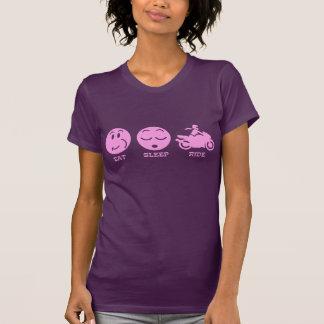 Coma el paseo del sueño femenino camisetas