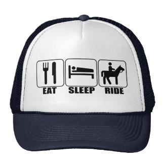 Coma el paseo del sueño una equitación del gorro