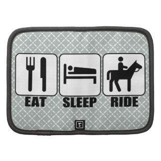 Coma el paseo del sueño una equitación del planificador
