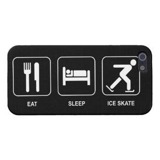 Coma el patín de hielo del sueño iPhone 5 carcasas