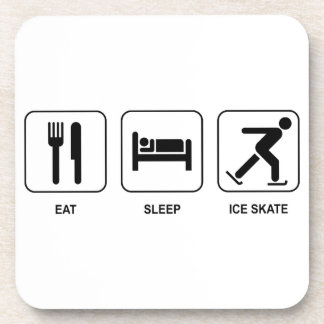 Coma el patín de hielo del sueño posavaso