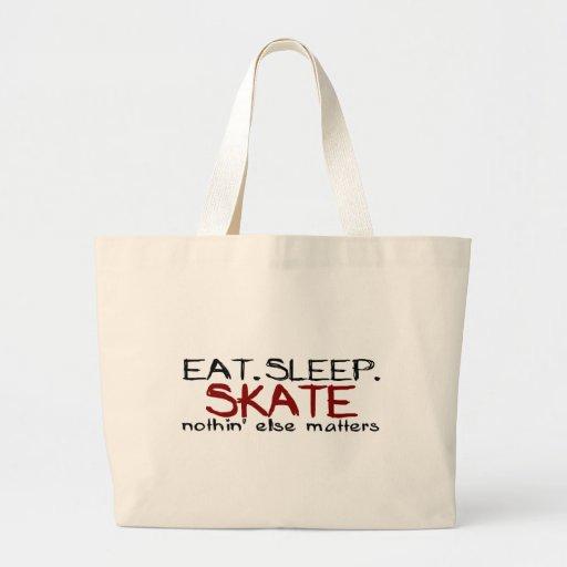 Coma el patín del sueño bolsa tela grande