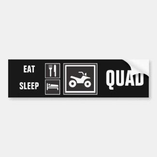 ¡Coma el PATIO del sueño! Etiqueta De Parachoque