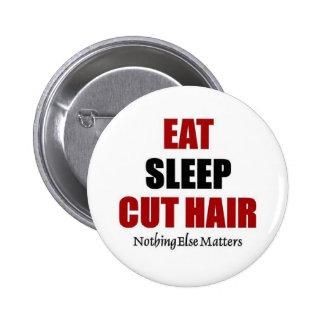 Coma el pelo del corte del sueño pin redondo de 2 pulgadas