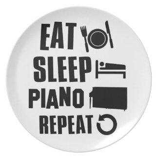 Coma el piano del sueño plato