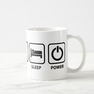 Coma el poder del sueño taza básica blanca