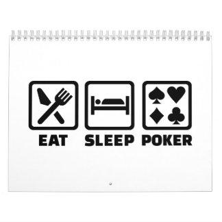 Coma el póker del sueño calendarios
