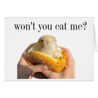 Coma el pollo tarjeta pequeña