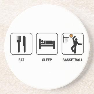 Coma el práctico de costa del baloncesto del sueño posavaso para bebida