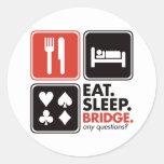 Coma el puente del sueño etiquetas redondas