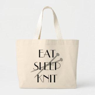 Coma el punto del sueño bolsa tela grande