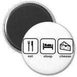 Coma el queso del sueño imán redondo 5 cm