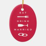 COMA el recuerdo rojo moderno CASADO BEBIDA del dí Ornamento De Navidad