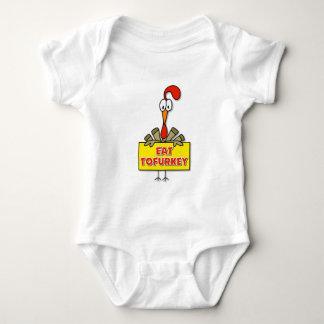 Coma el regalo de la acción de gracias de Tofurkey Body Para Bebé