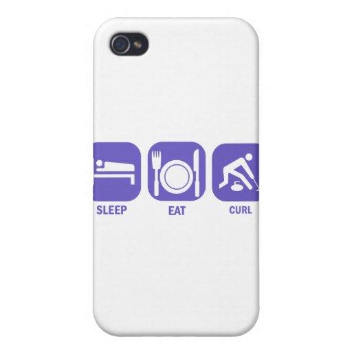 Coma el rizo del sueño iPhone 4/4S fundas